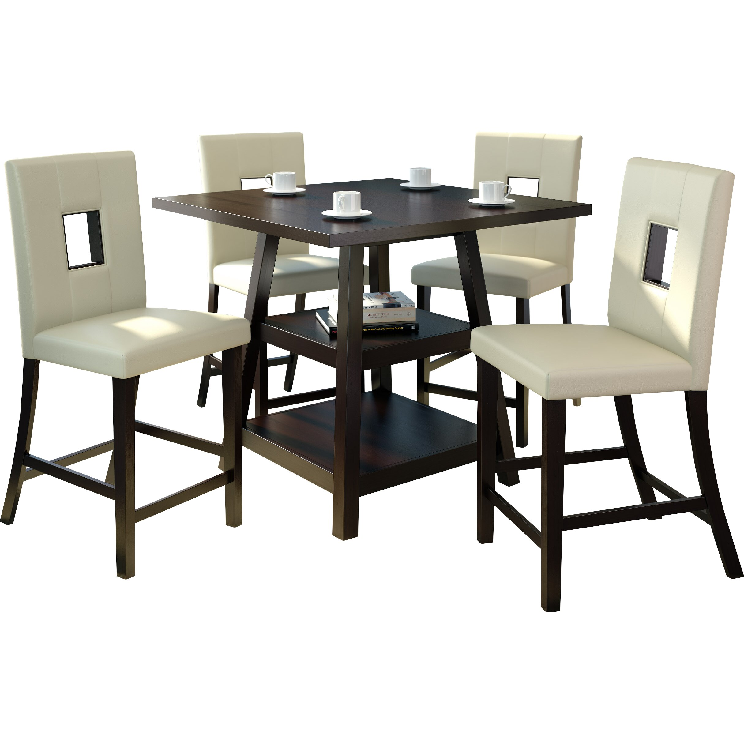 Counter Height Dining Sets 5 Piece : ... Studio Burgess 5 Piece Counter Height Dining Set & Reviews Wayfair