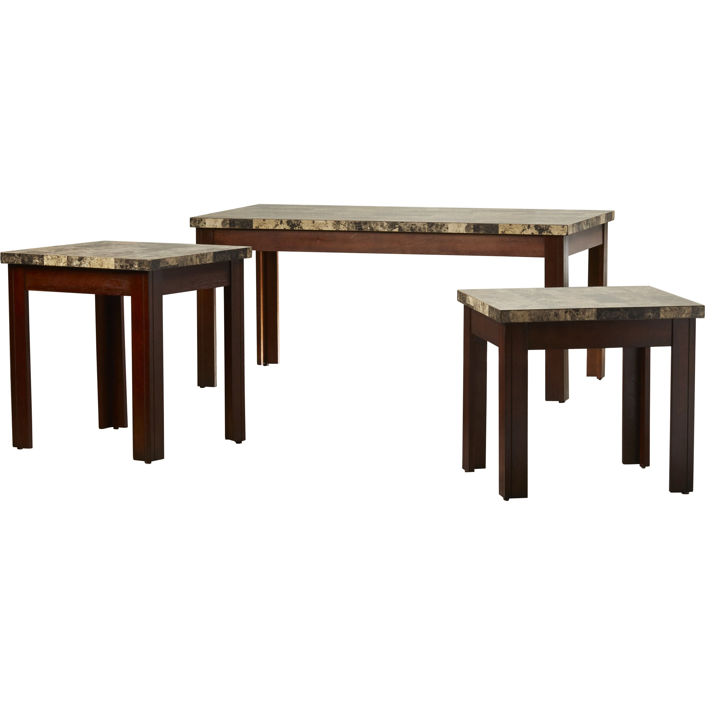 Red Barrel Studio Valholl 3 Piece Coffee Table Set