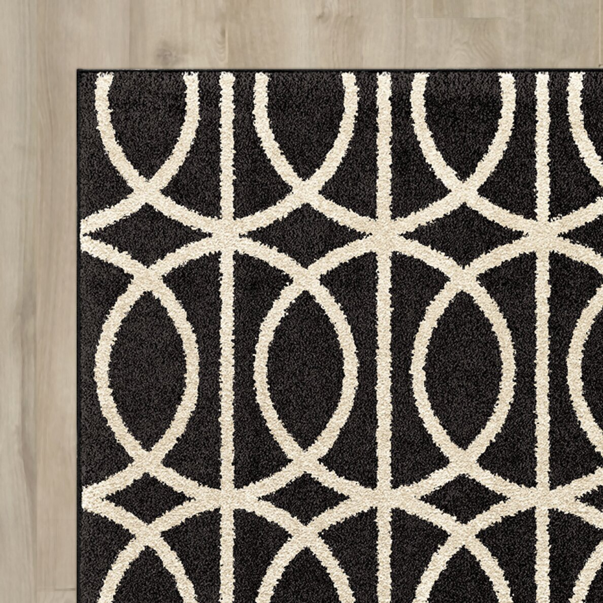 Red barrel studio falmer black cream area rug wayfair for 10x10 living room rugs