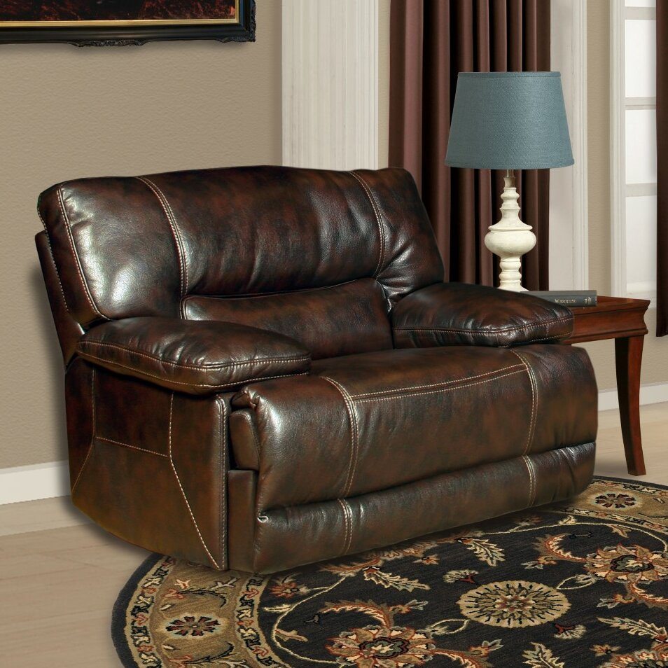 Belgrade Leather Couch Brown Sutherland: Red Barrel Studio Sutherland Power Recliner & Reviews