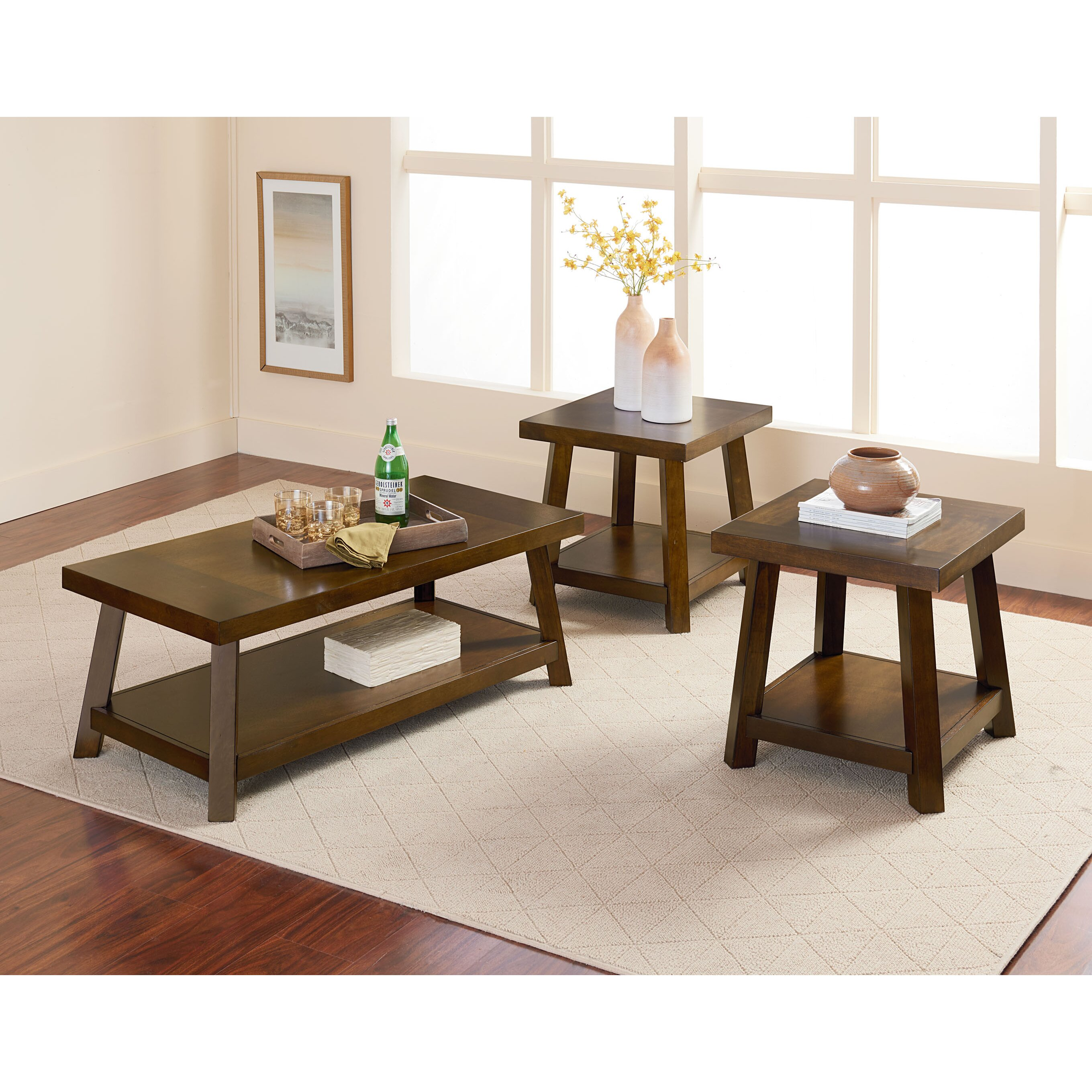 Red Barrel Studio North York 3 Piece Coffee Table Set