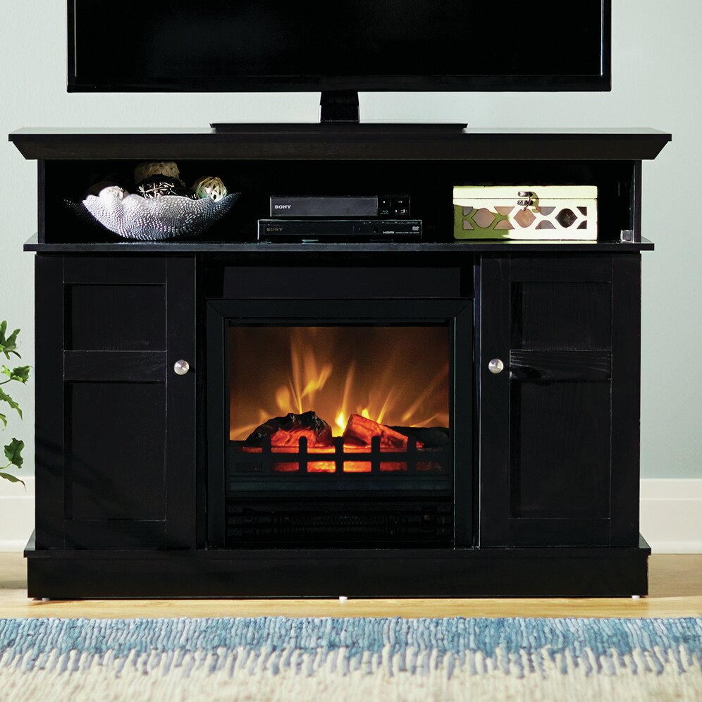 """Red Barrel Studio Grand View 43.63"""" TV Stand with Electric ..."""