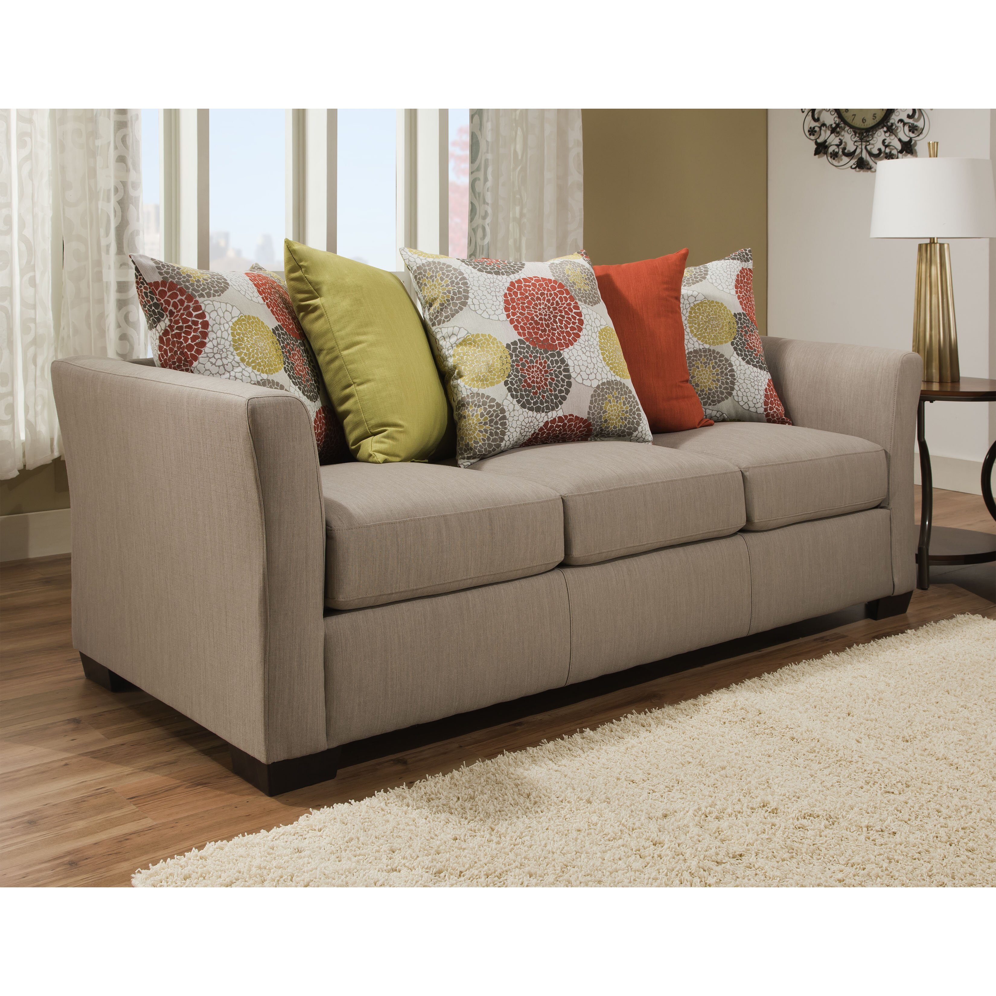 red barrel studio simmons upholstery roulston sleeper sofa