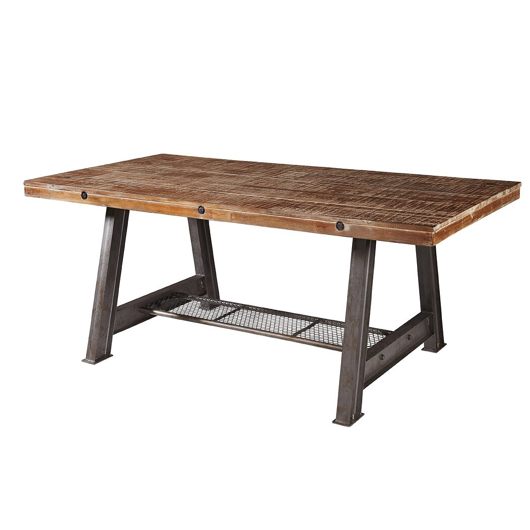 Red barrel studio chavira dining table wayfair for Red dining table