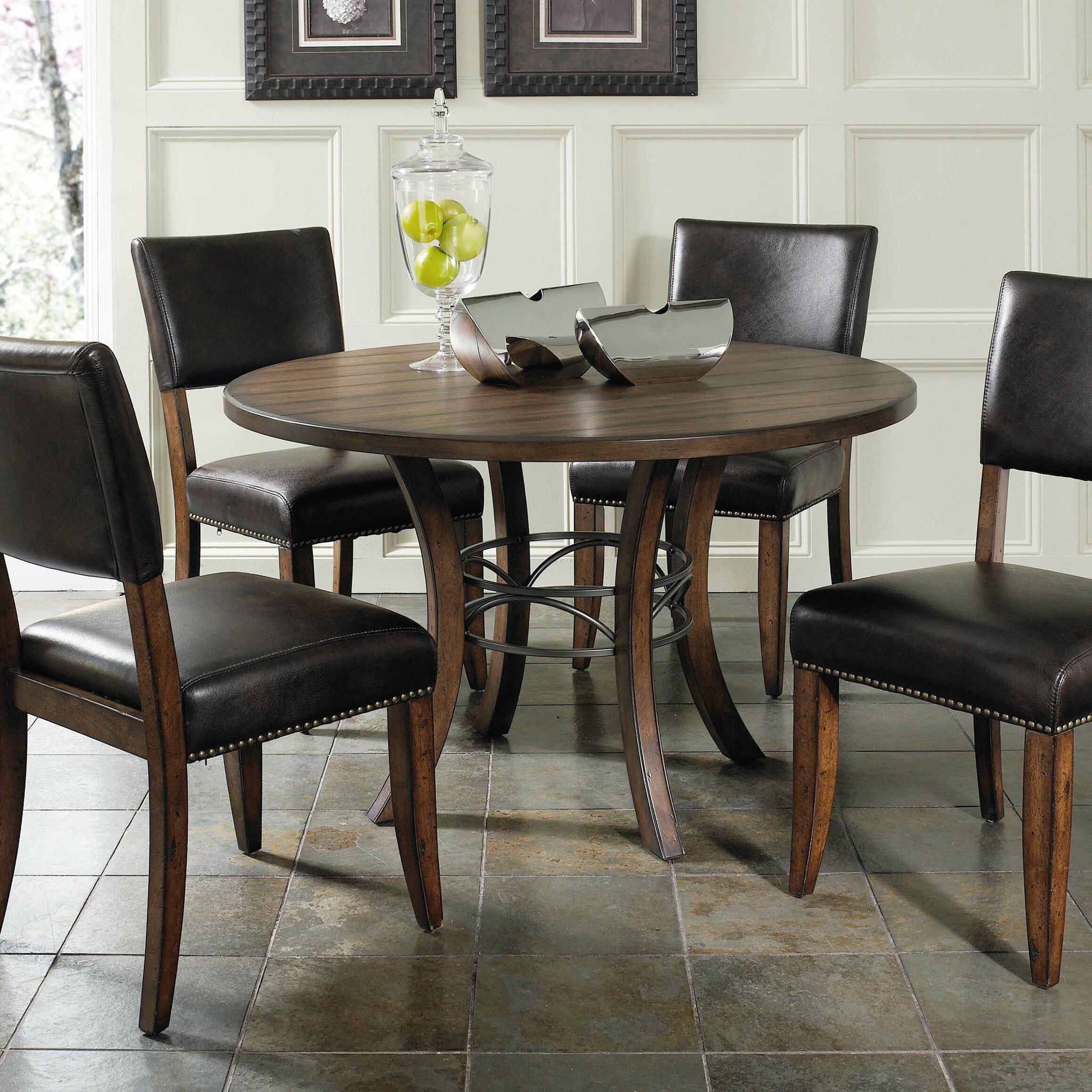 Red Dining Table Set: Red Barrel Studio Royalton Round Dining Table & Reviews