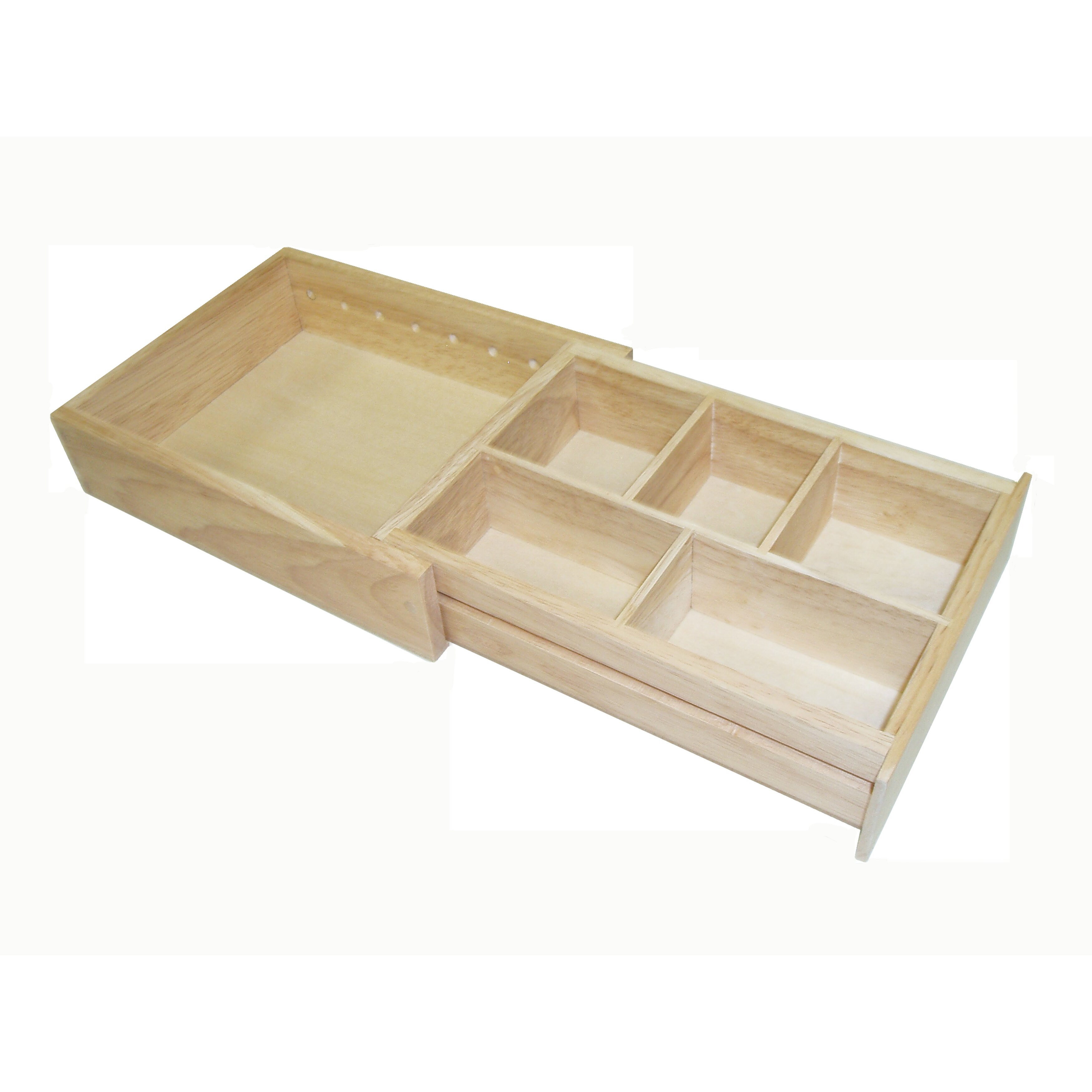 Marvelous photograph of Axis International Wood Expandable Drawer Organizer & Reviews  with #8C703F color and 3500x3500 pixels