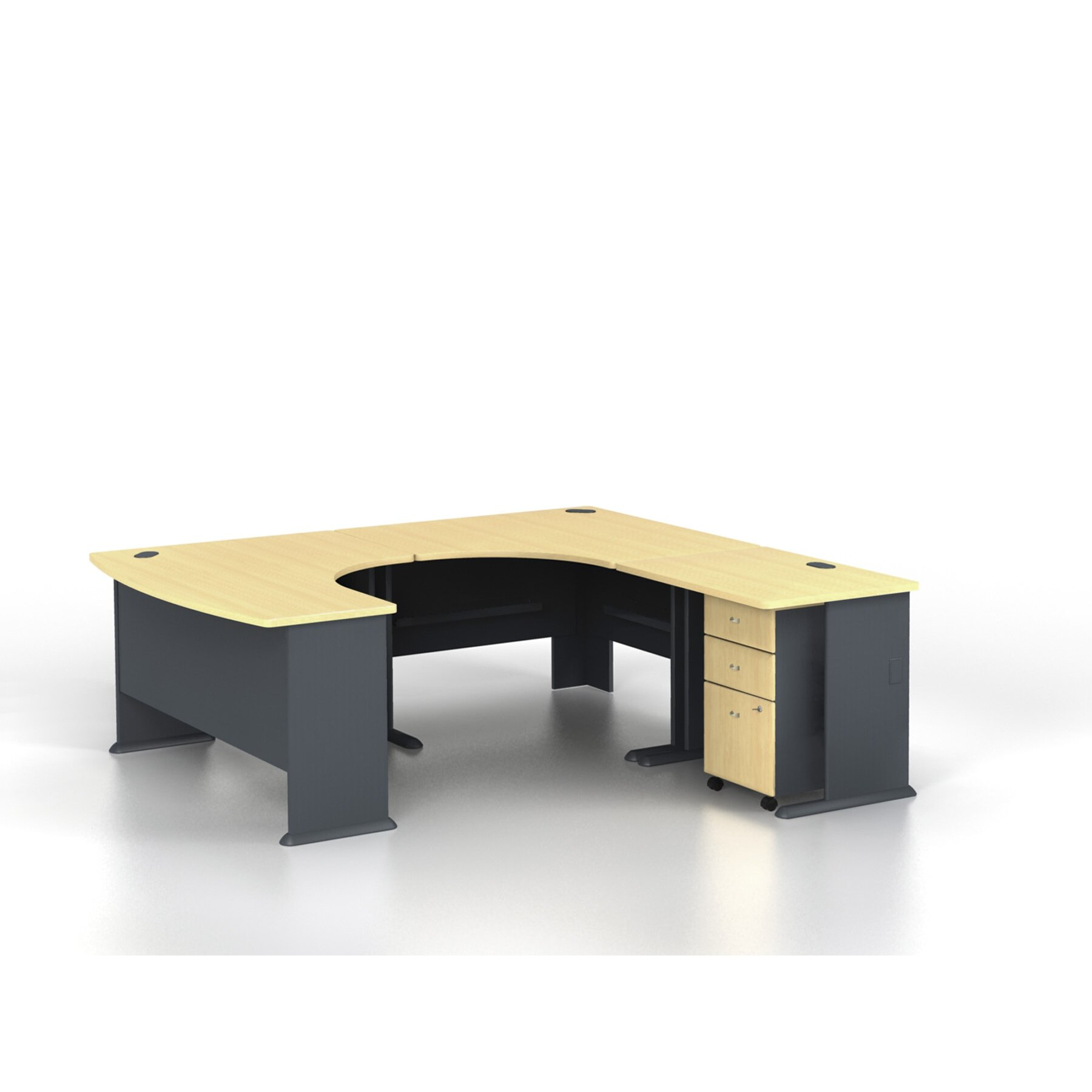 Bush Business Furniture Series A U Shaped Desk Office