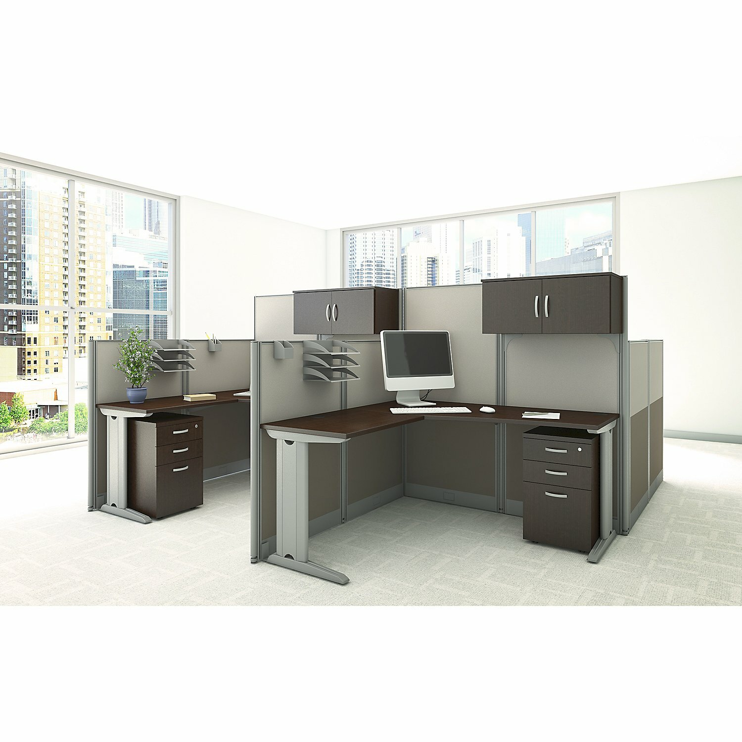 Bush Business Furniture Office In An Hour L Workstation