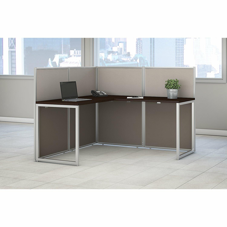 Bush business furniture easy office l shape desk office for Furniture courier