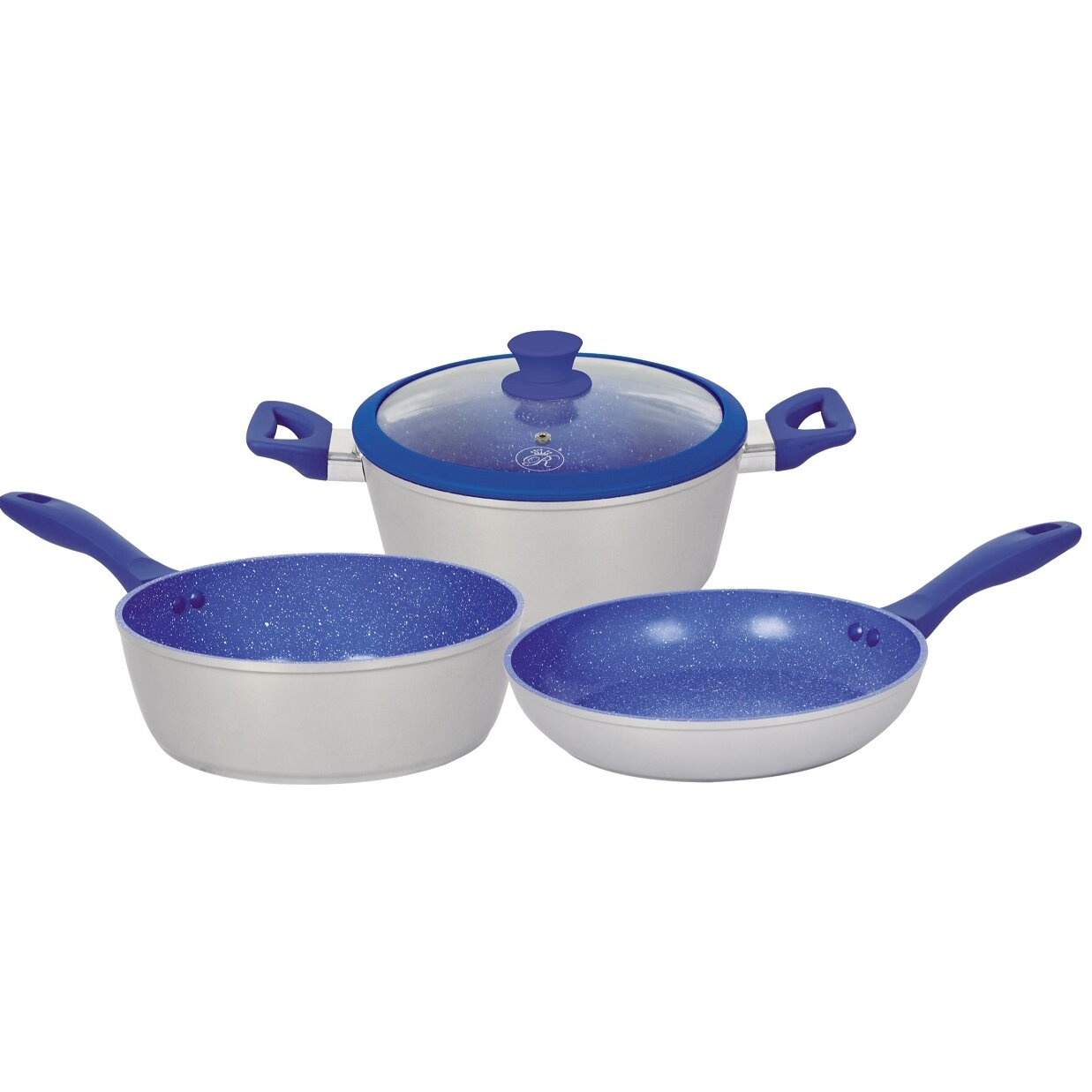 Royal cook 4 piece non stick cookware set wayfair for Kitchen set royal