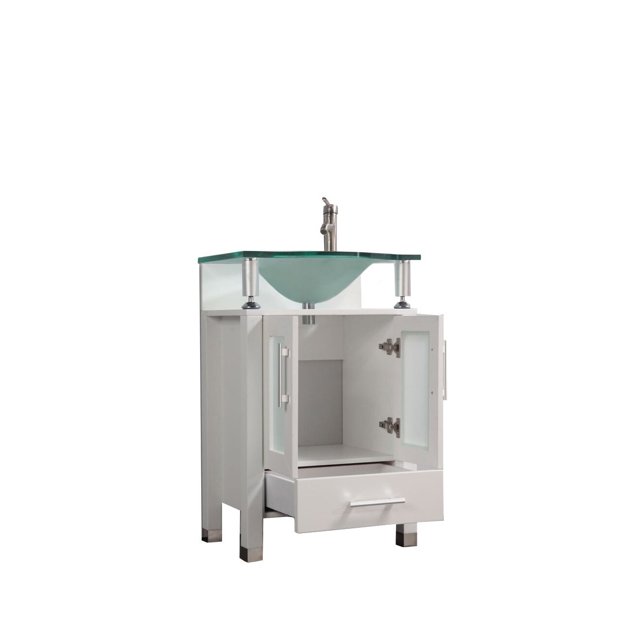 "MTDVanities Beliza 24"" Single Sink Bathroom Vanity Set with Mirror &"