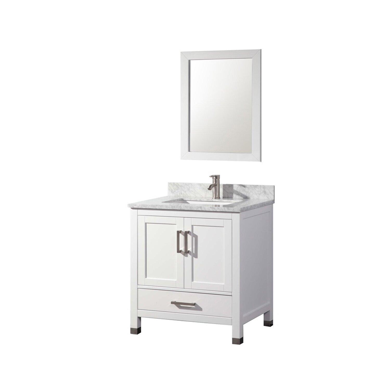 """MTDVanities Ricca 30"""" Single Sink Bathroom Vanity Set with Mirror &"""