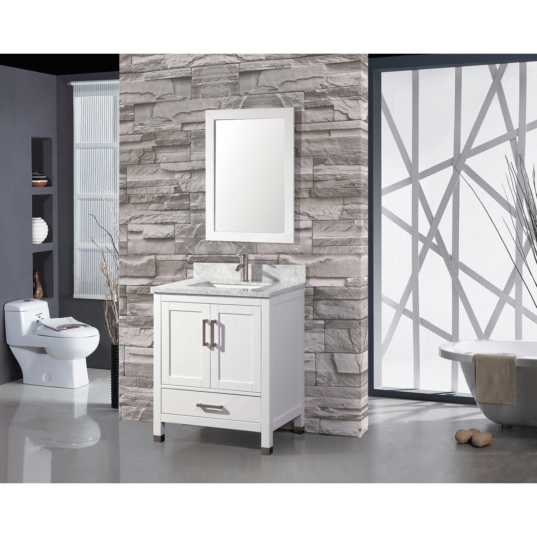 Mtdvanities ricca 30 single sink bathroom vanity set with - 30 inch single sink bathroom vanity ...