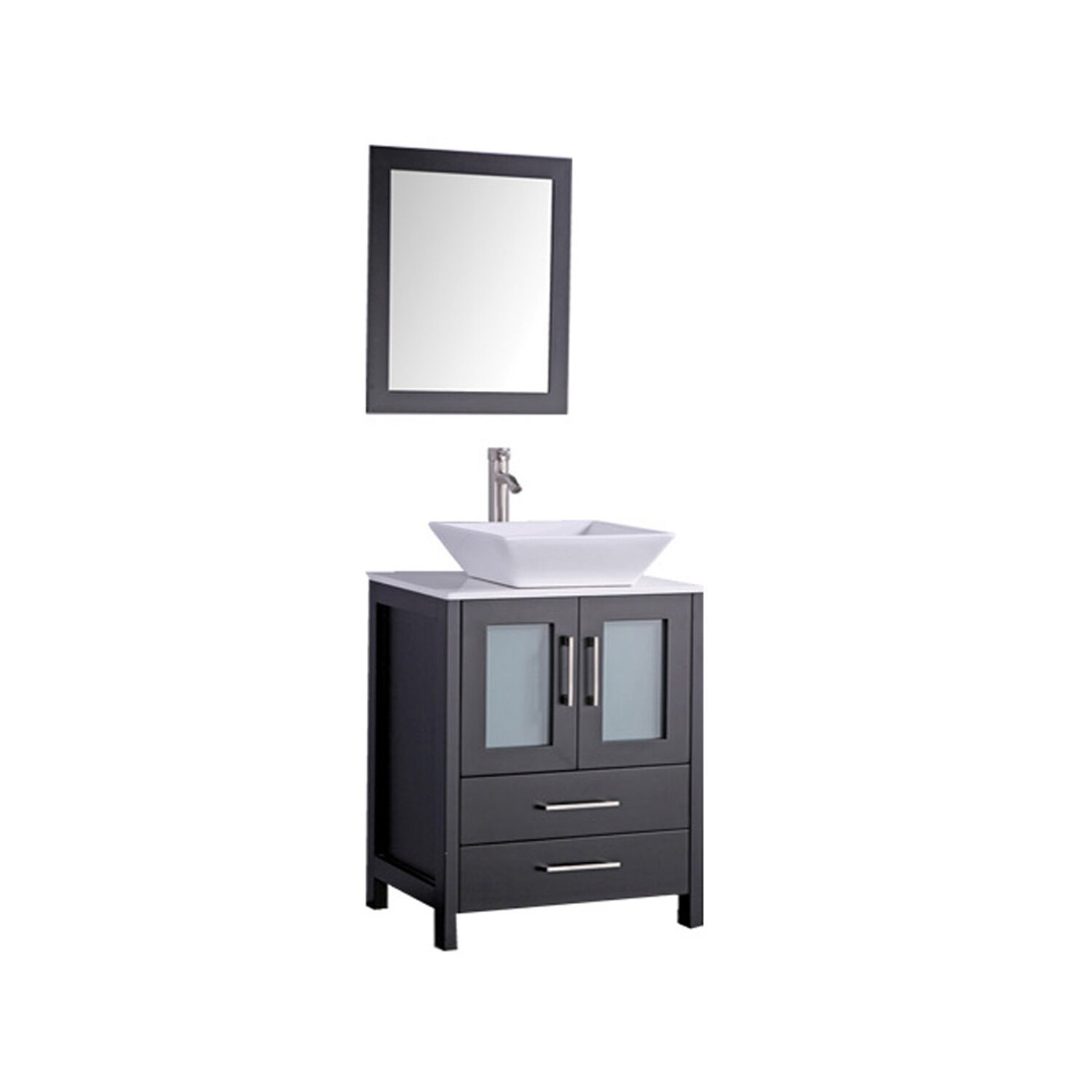 mtd vanities jordan 30 single sink bathroom vanity set with mirror