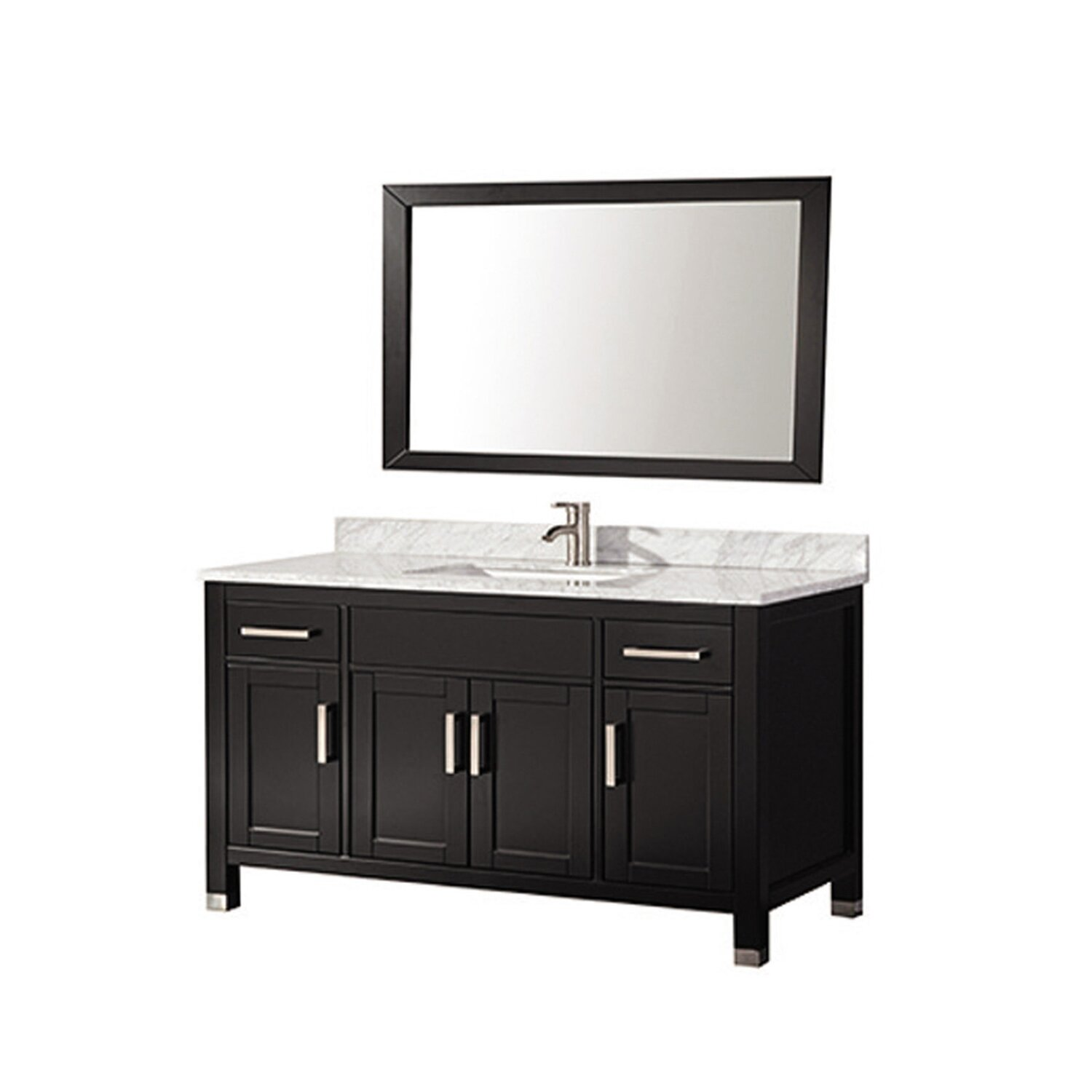 Mtdvanities ricca 60 single sink bathroom vanity set with mirror reviews wayfair 60 in bathroom vanities with single sink