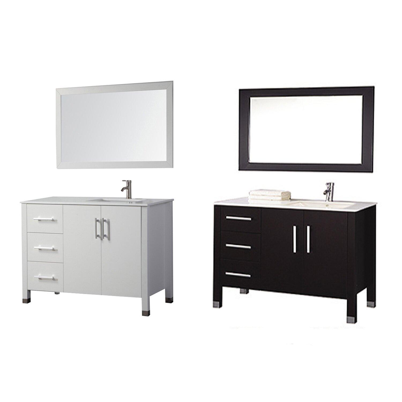 Mtdvanities Monaco 40 Single Sink Bathroom Vanity Set
