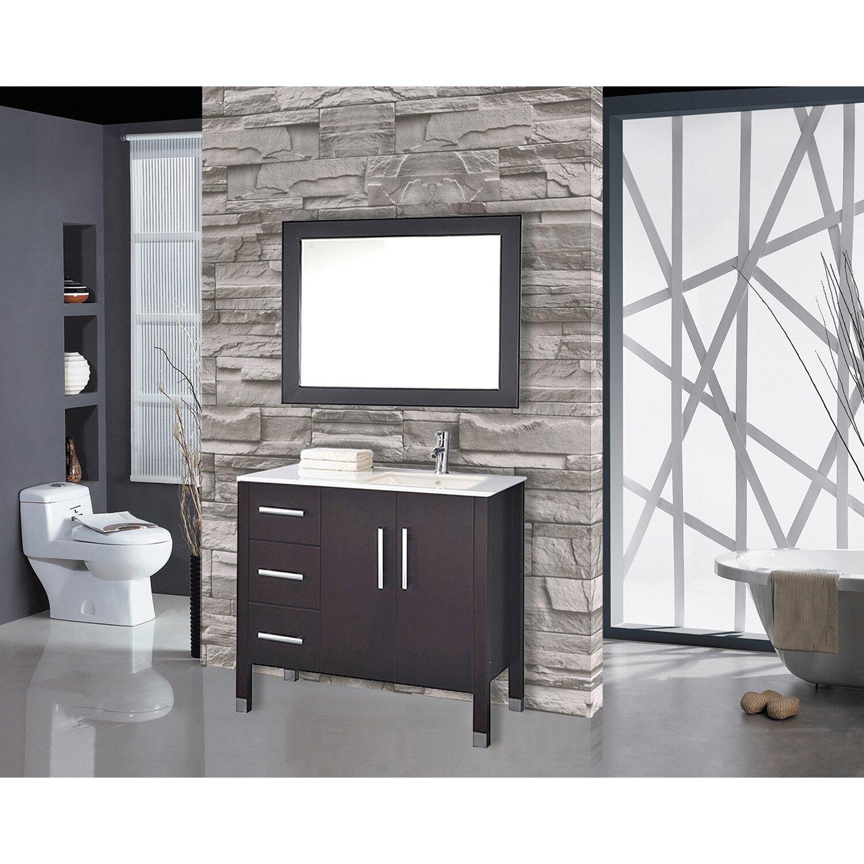 "MTDVanities Monaco 40"" Single Sink Bathroom Vanity Set"