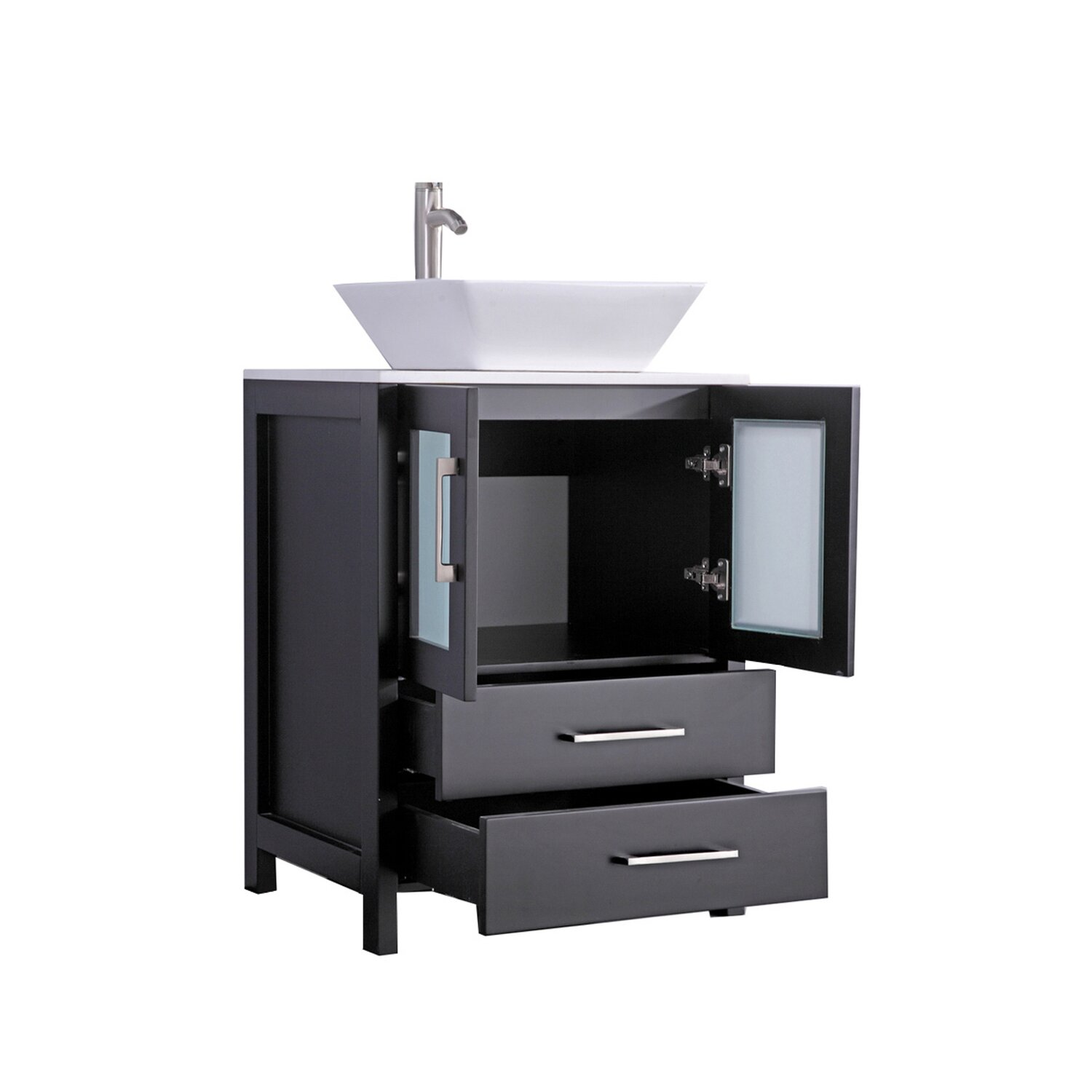 24 single sink bathroom vanity set with mirror reviews wayfair