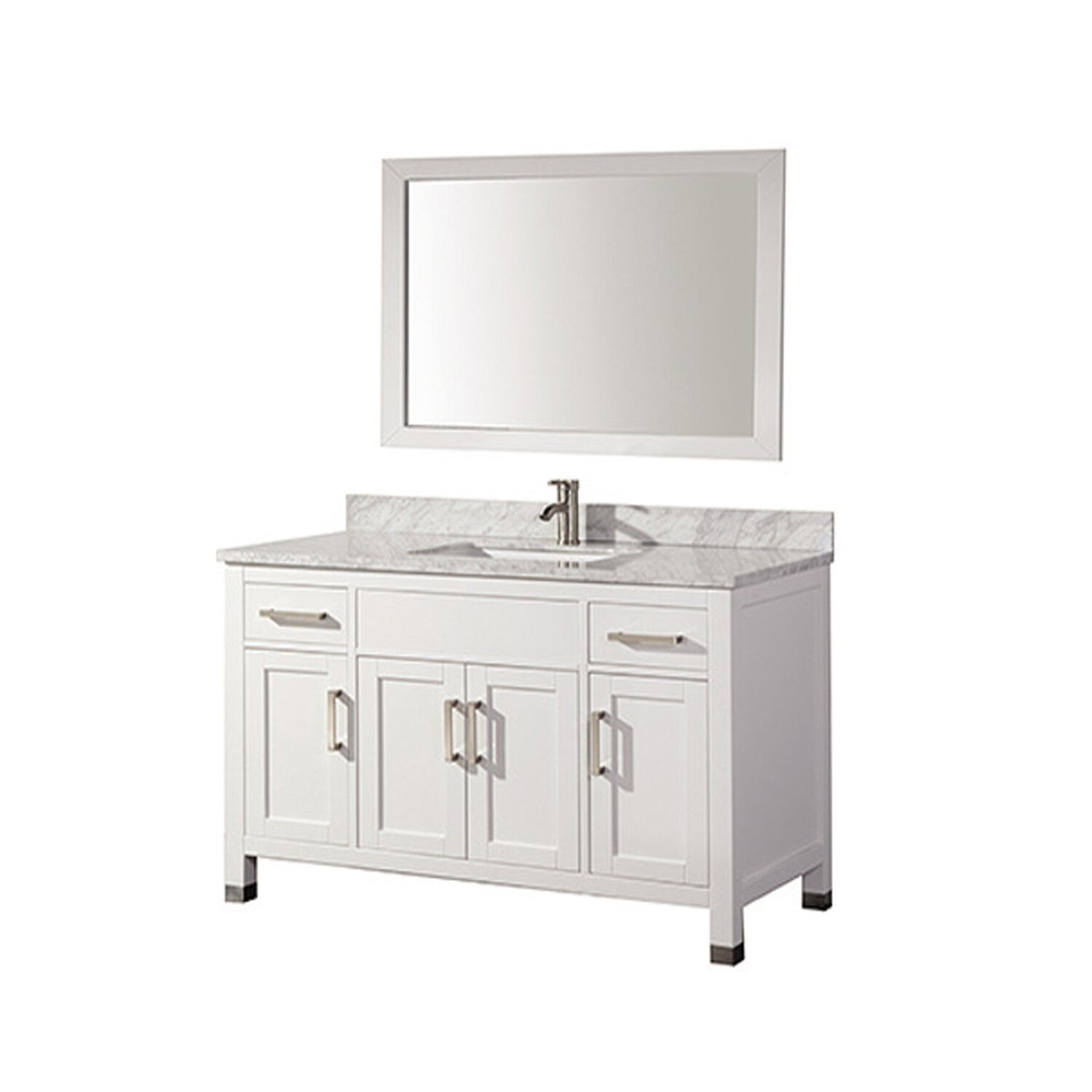 Mtdvanities ricca 60 single sink bathroom vanity set with mirror reviews wayfair Bathroom sink and vanity sets