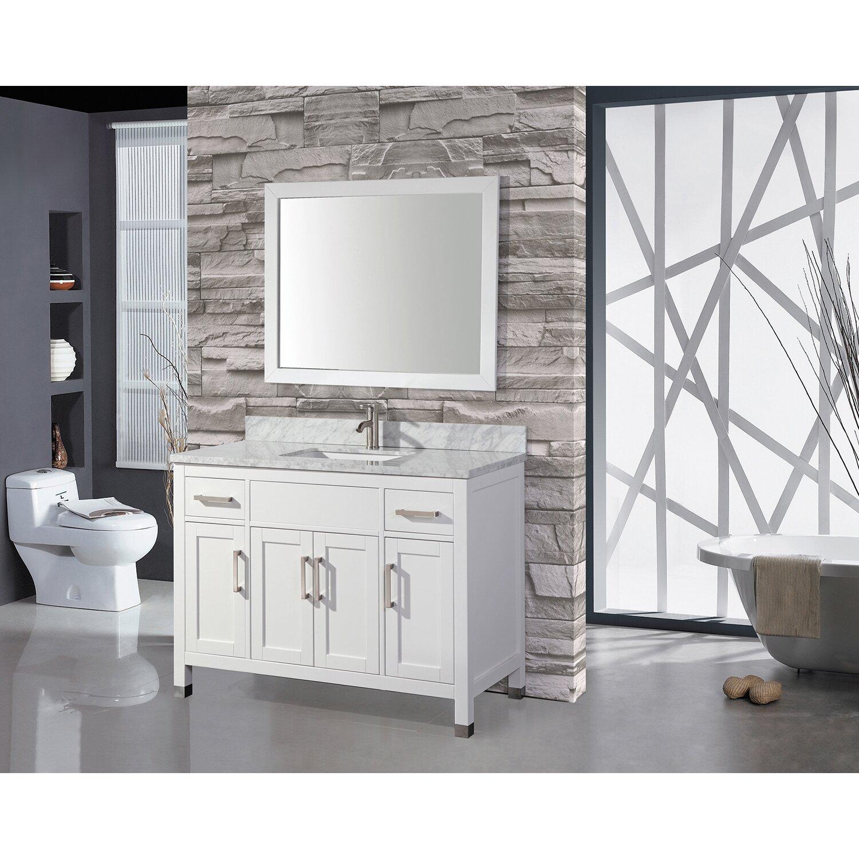 """MTDVanities Ricca 60"""" Single Sink Bathroom Vanity Set with Mirror &"""