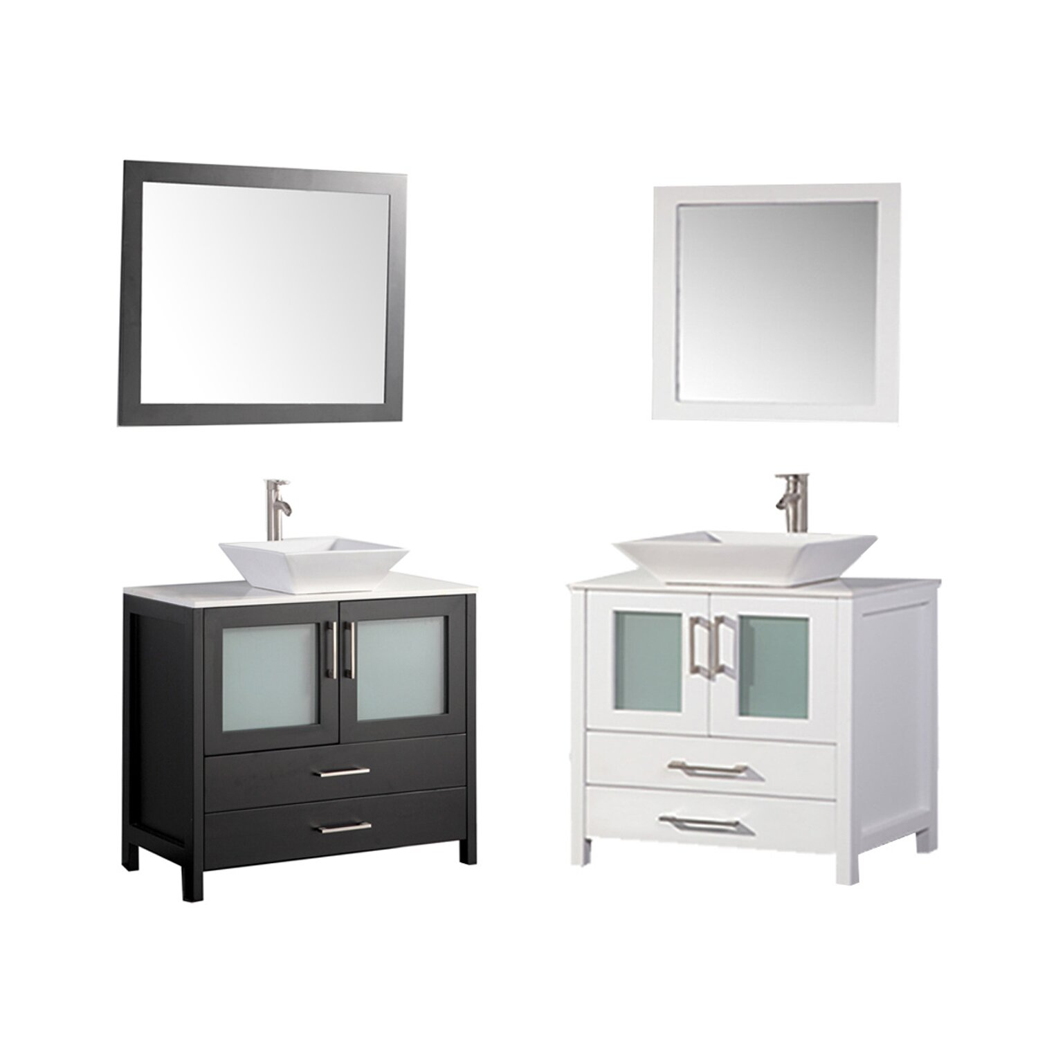 MTDVanities Jordan 36 Bathroom Vanity Set With Mirror Reviews W