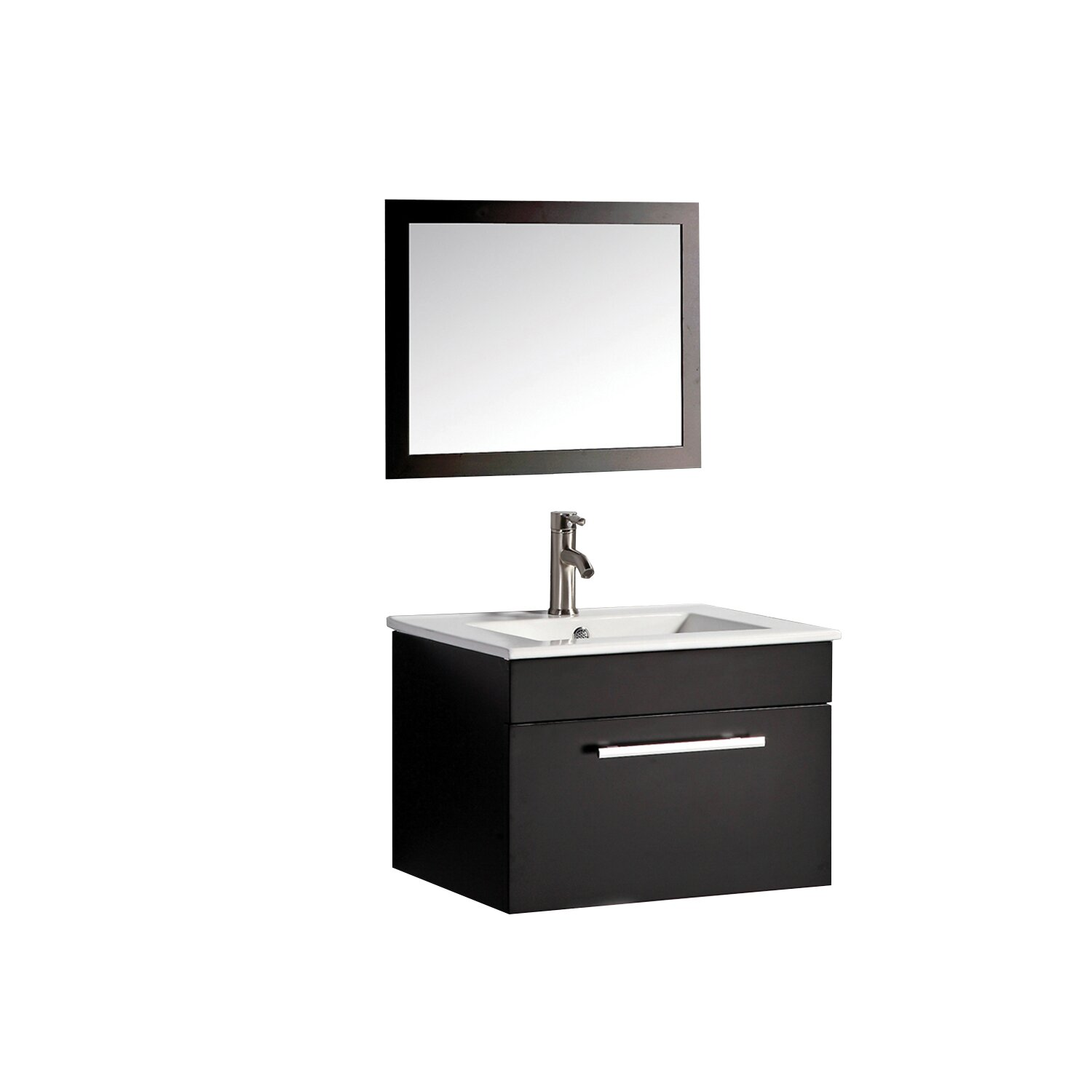 Mtdvanities nepal 24 single sink bathroom vanity set with for Kitchen sink in nepal