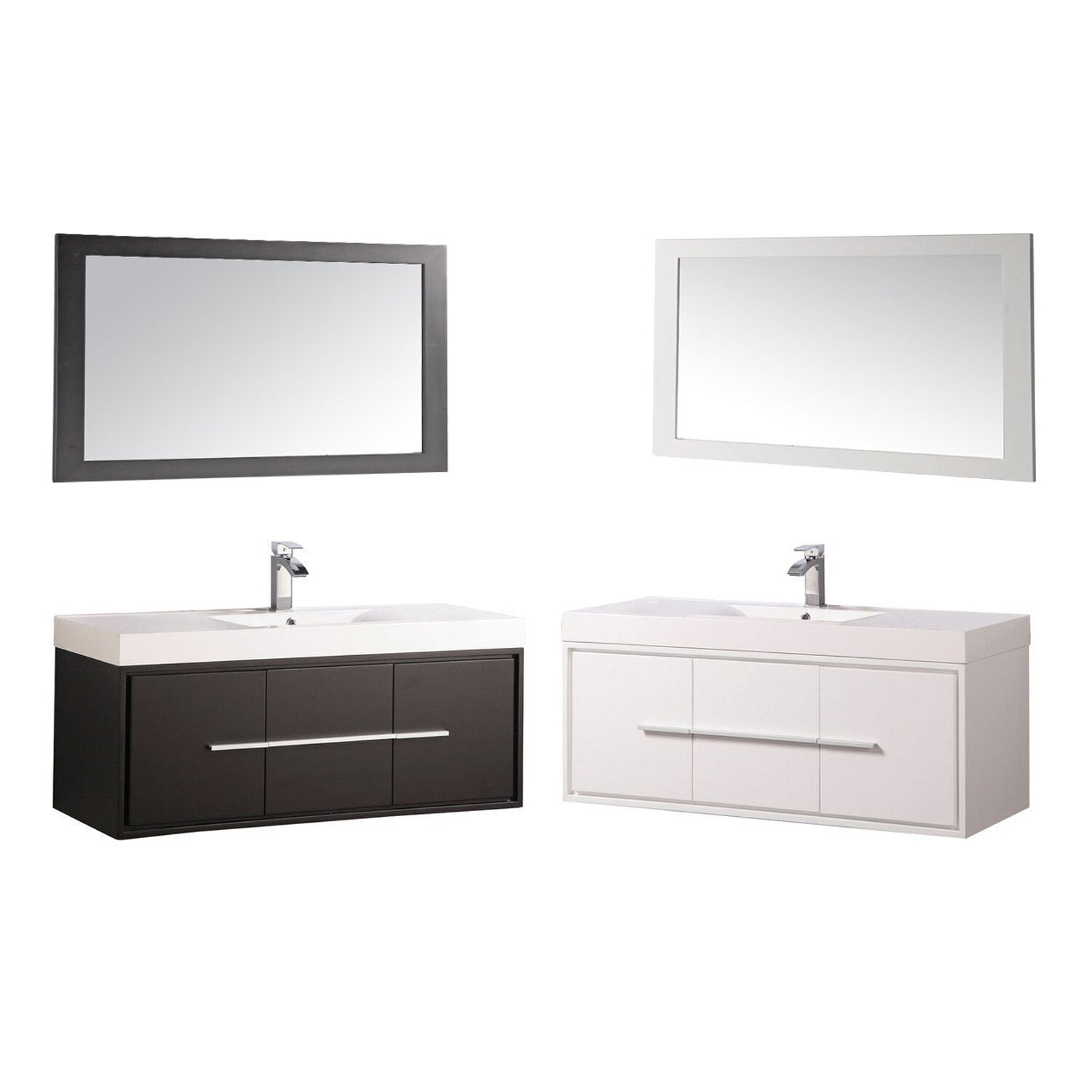 Mtdvanities cypress 48 single floating bathroom vanity Floating bathroom vanity