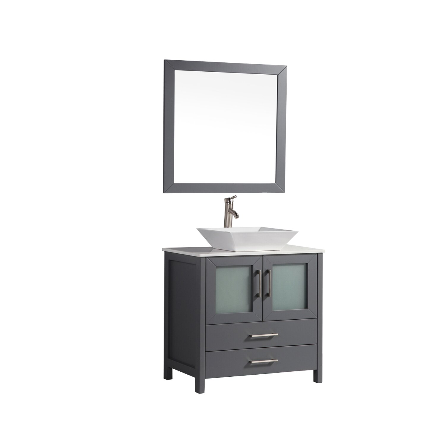 Mtdvanities Tahiti 36 Single Modern Bathroom Vanity Set With Mirror Wayfair