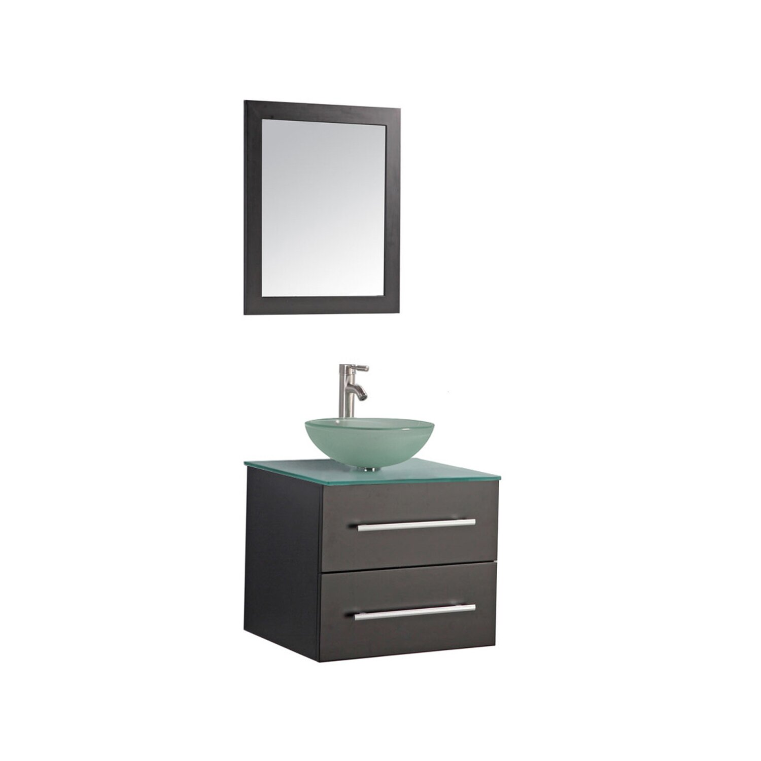 Mtdvanities Cuba 24 Single Wall Mounted Bathroom Vanity Set With Mirror Reviews Wayfair