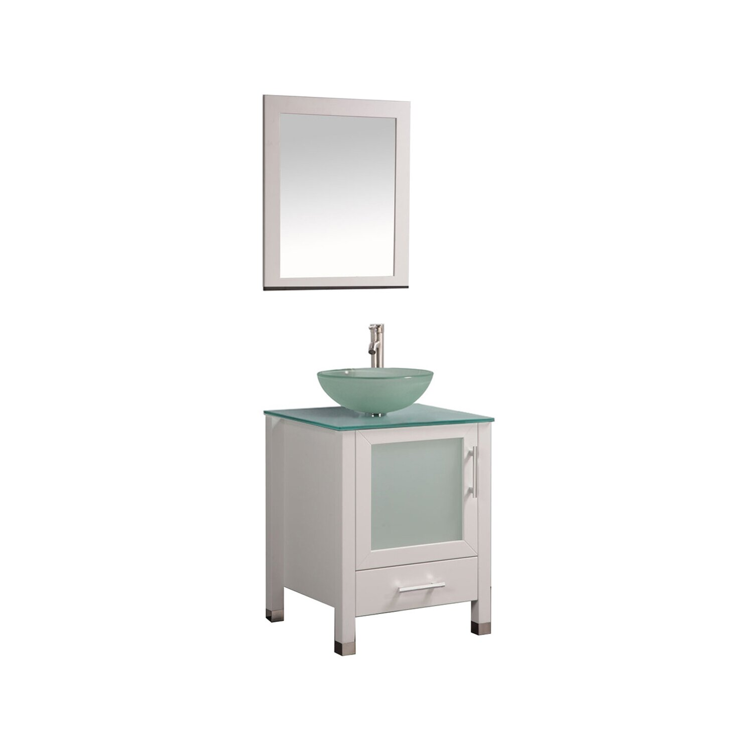 Mtdvanities Cuba 24 Single Sink Bathroom Vanity Set With Mirror Wayfair