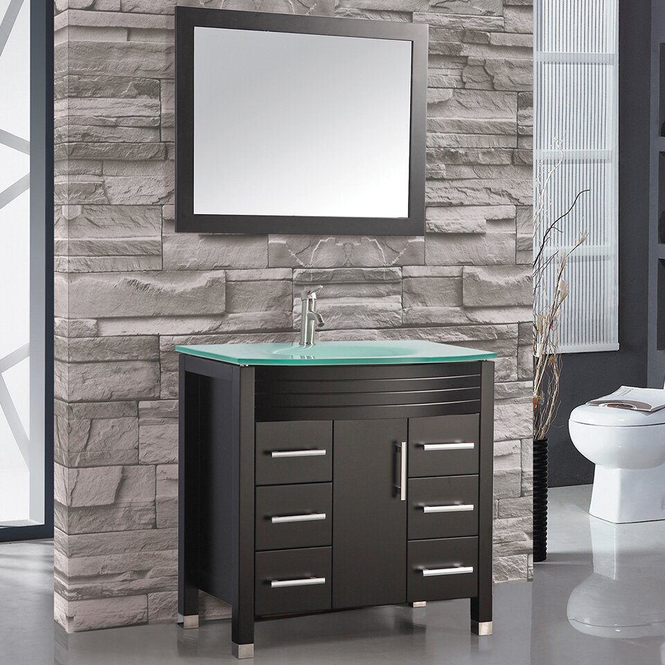 mtd vanities figi 48 single sink bathroom vanity set with mirror