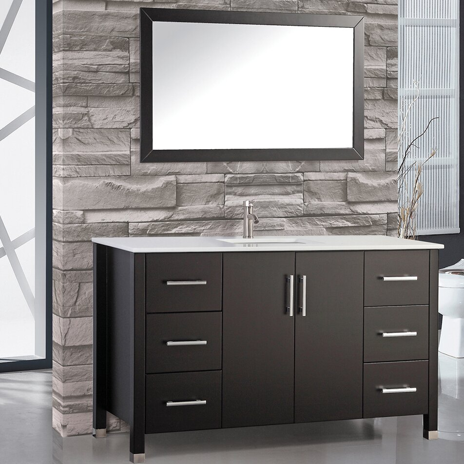 single sink bathroom vanity cabinets mtdvanities monaco 60 quot single sink bathroom vanity set 24120