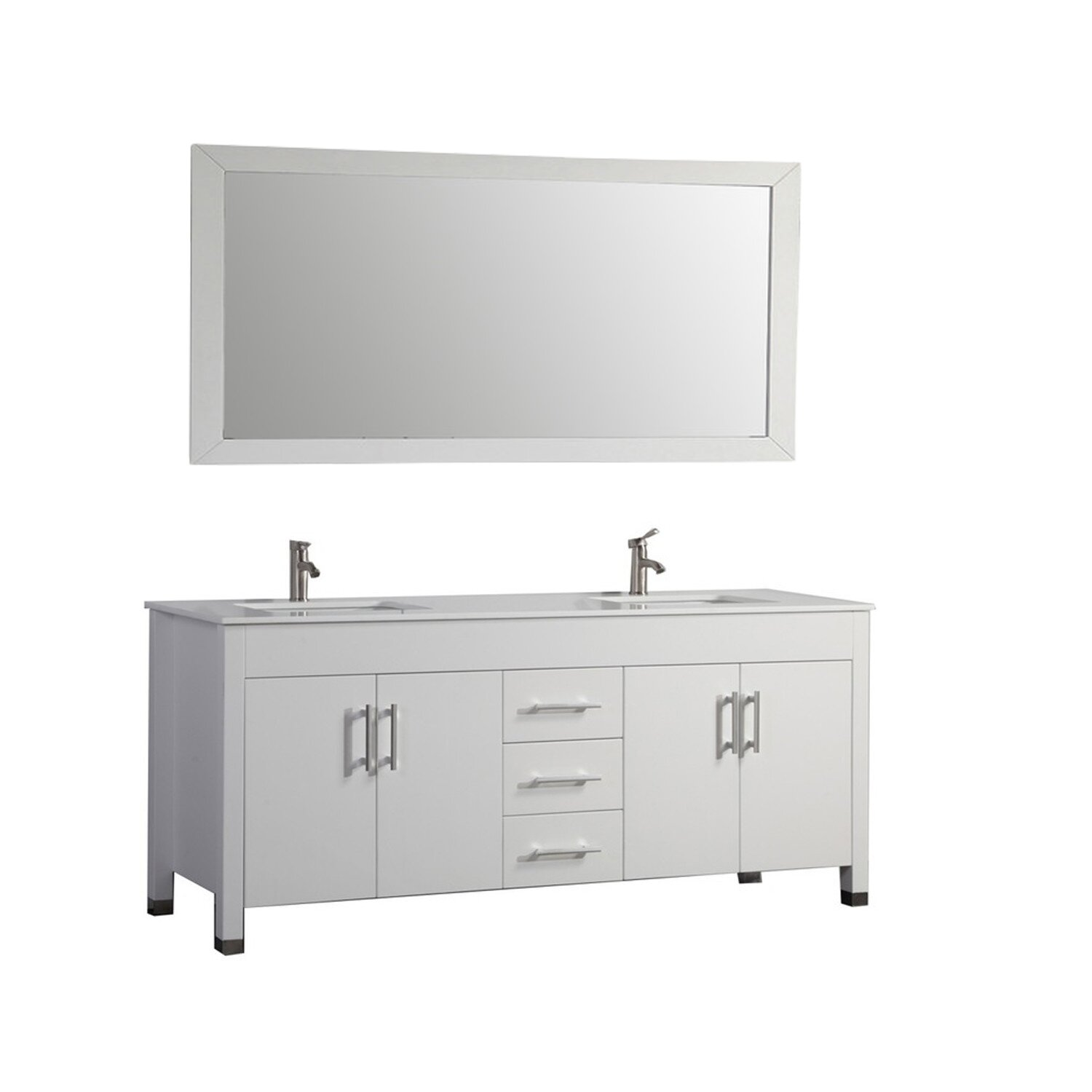 Mtdvanities Monaco 63 Double Sink Bathroom Vanity Set With Mirror Reviews