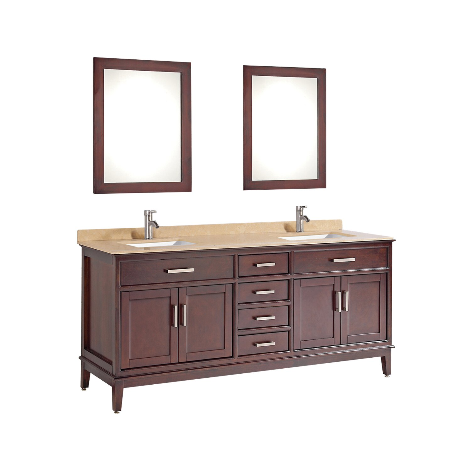 Mtdvanities Sierra 59 8 Double Bathroom Vanity Set With Mirror And Faucet Wayfair