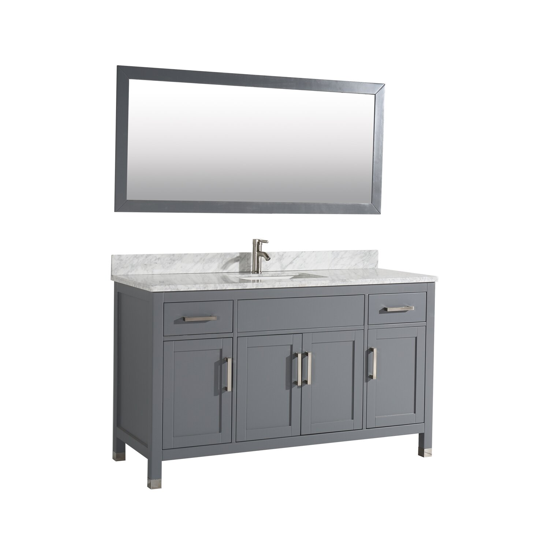 """MTDVanities Ricca 60"""" Single Sink Bathroom Vanity Set with ..."""