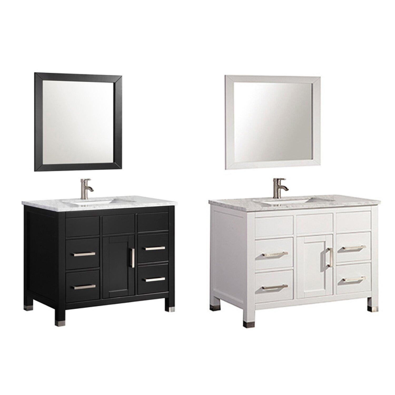 MTDVanities Ricca 36 Single Sink Bathroom Vanity Set With Mirror