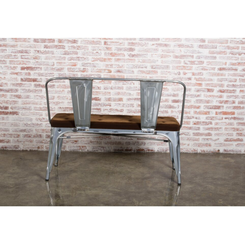 Metal Foyer Bench : Fine mod imports metal entryway bench wayfair