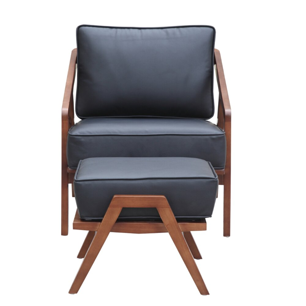 fine mod imports lounge chair and ottoman wayfair. Black Bedroom Furniture Sets. Home Design Ideas
