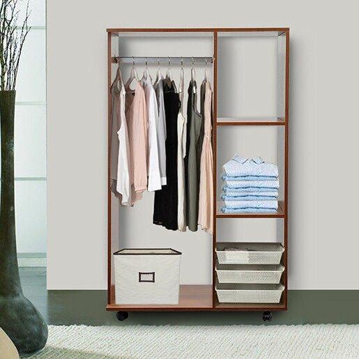 Homcom wardrobe reviews wayfair uk - Bedroom furniture for hanging clothes ...