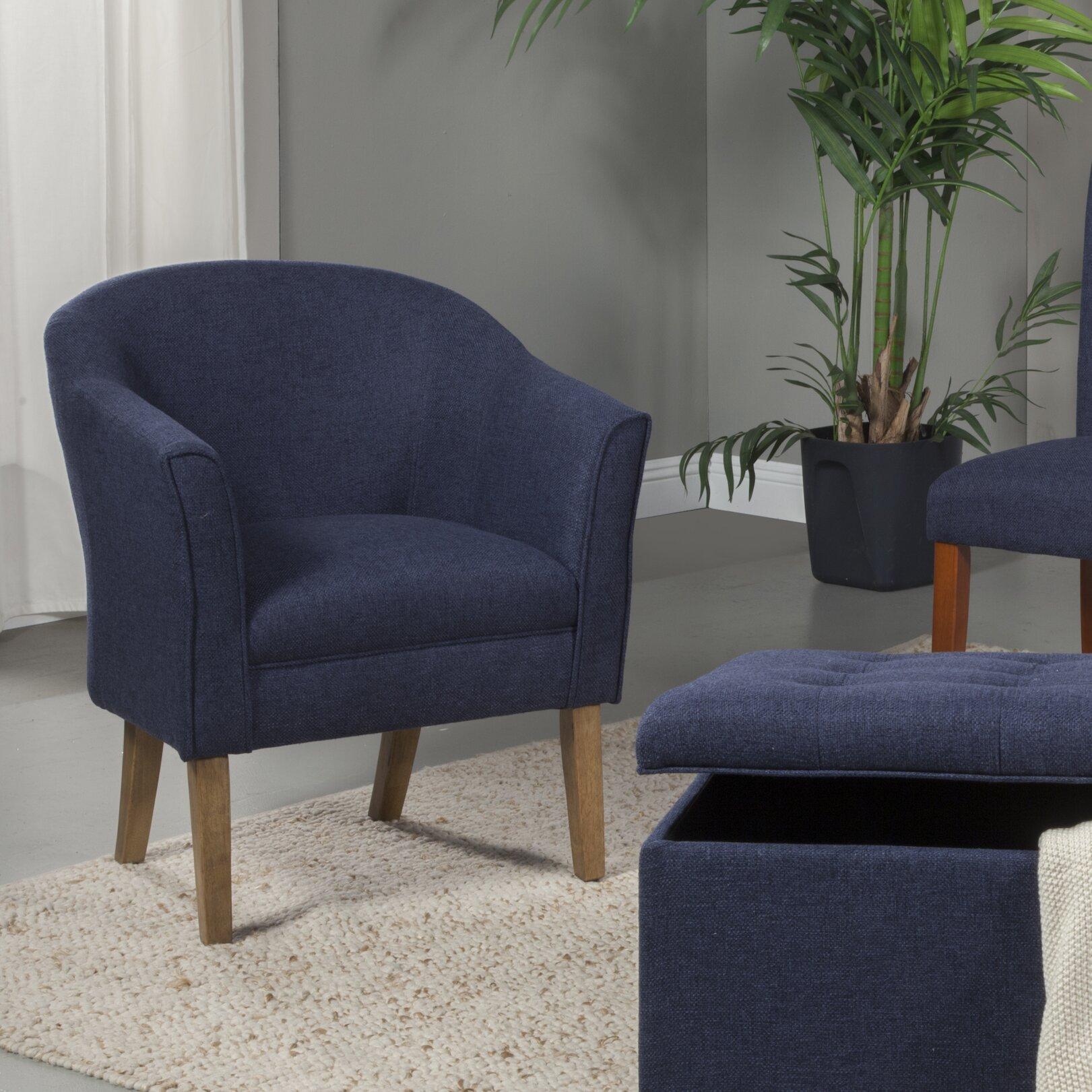 Homepop Upholstered Barrel Chair Amp Reviews Wayfair