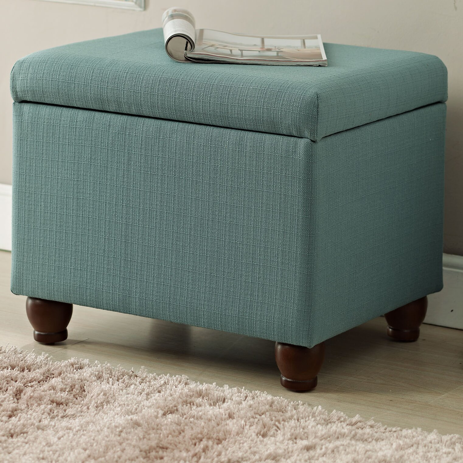 Homepop upholstered storage cube ottoman reviews wayfair for What is an ottoman for