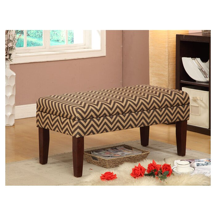 Homepop Decorative One Seat Bench With Storage Reviews Wayfair