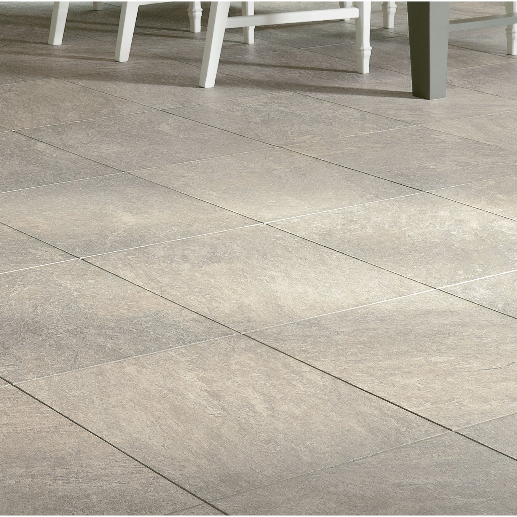 Armstrong Alterna Reserve Cuarzo 16 X 16 X Engineered Stone Tile In Pearl Gray