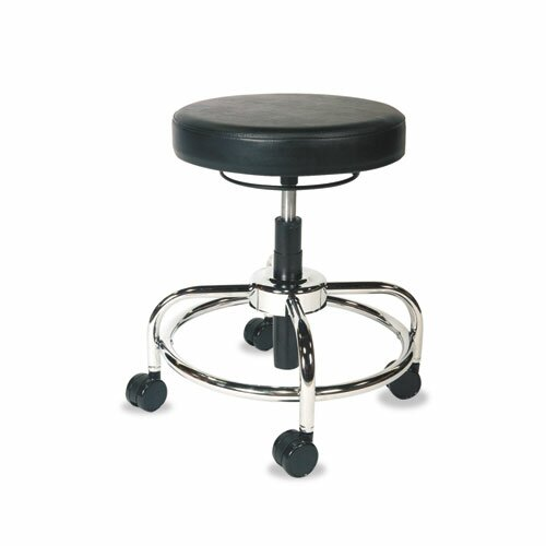 Alera Height Adjustable Utility Stool With Dual Wheel
