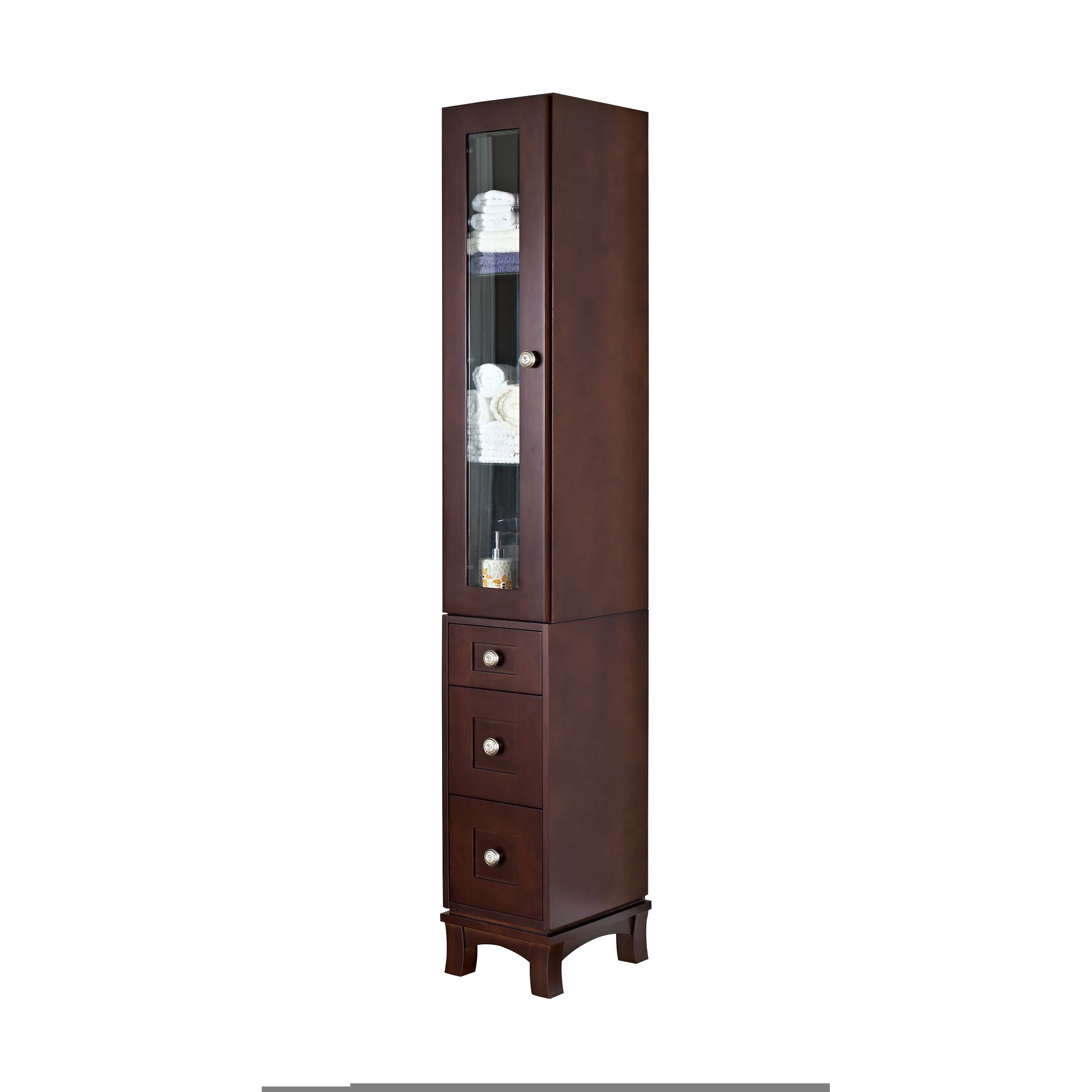 American imaginations 12 x 82 free standing linen tower - Free standing linen cabinets for bathroom ...