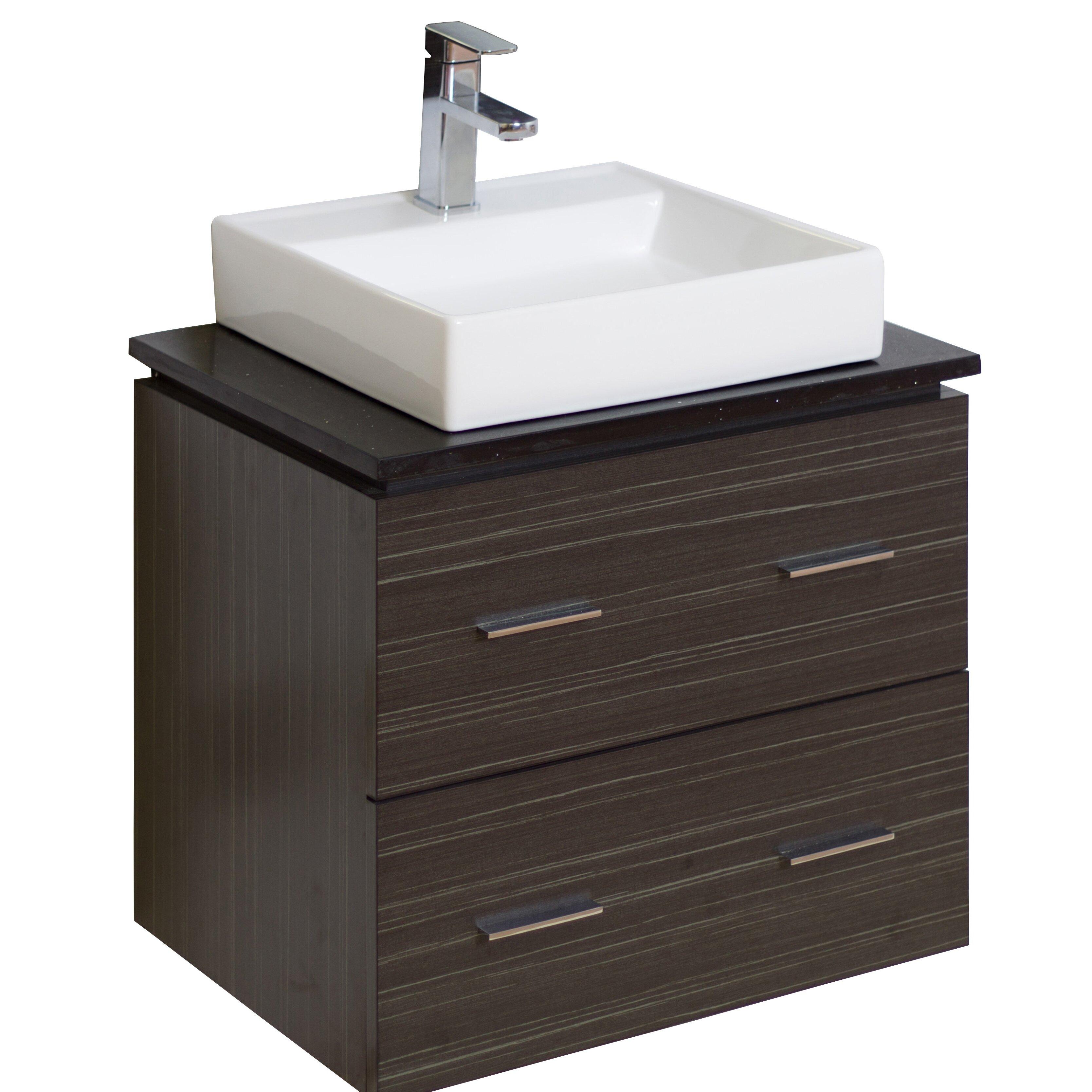 American Imaginations 24 Single Modern Wall Mount Bathroom Vanity Set Reviews Wayfair