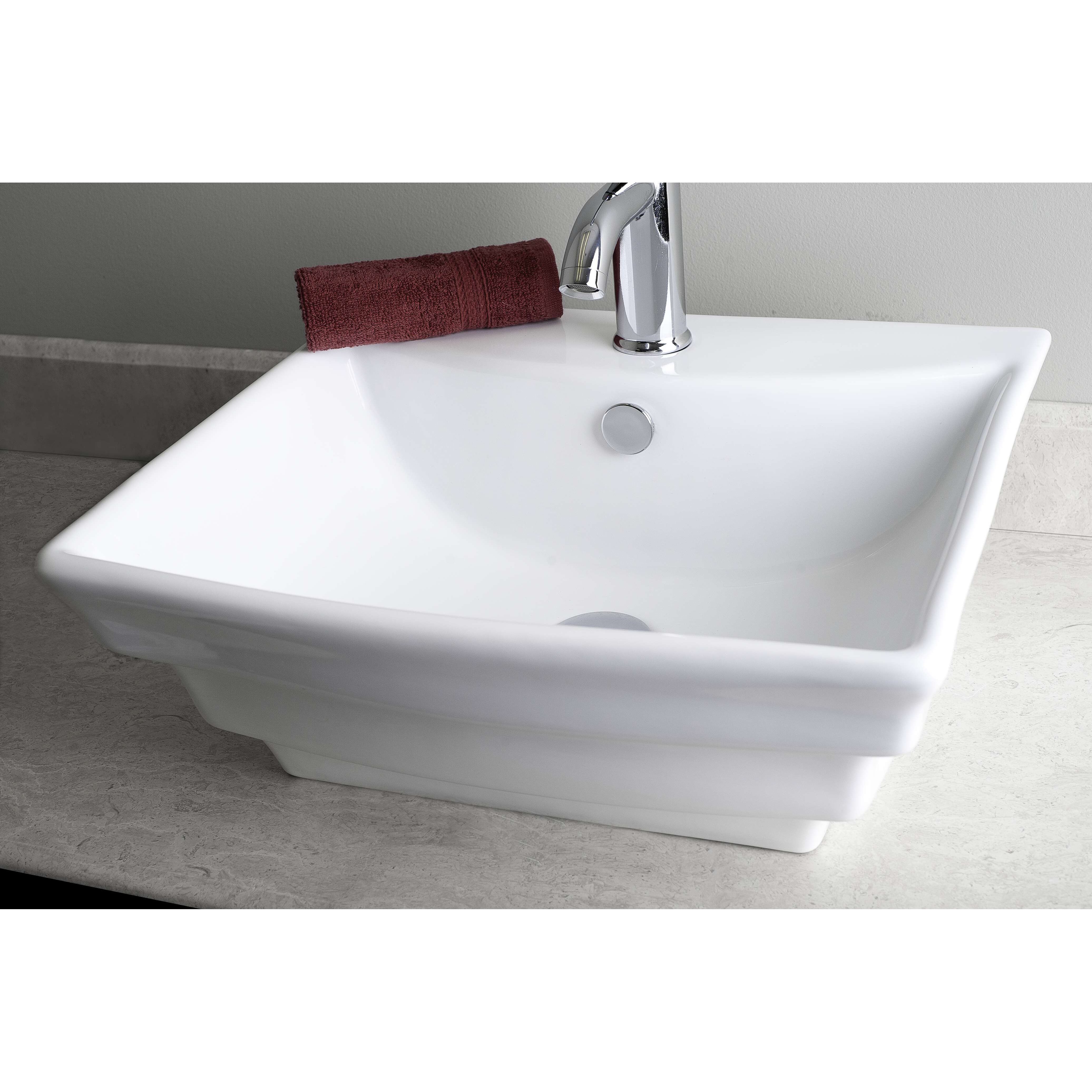 American imaginations wall mounted rectangle vessel for Are vessel sinks out of style