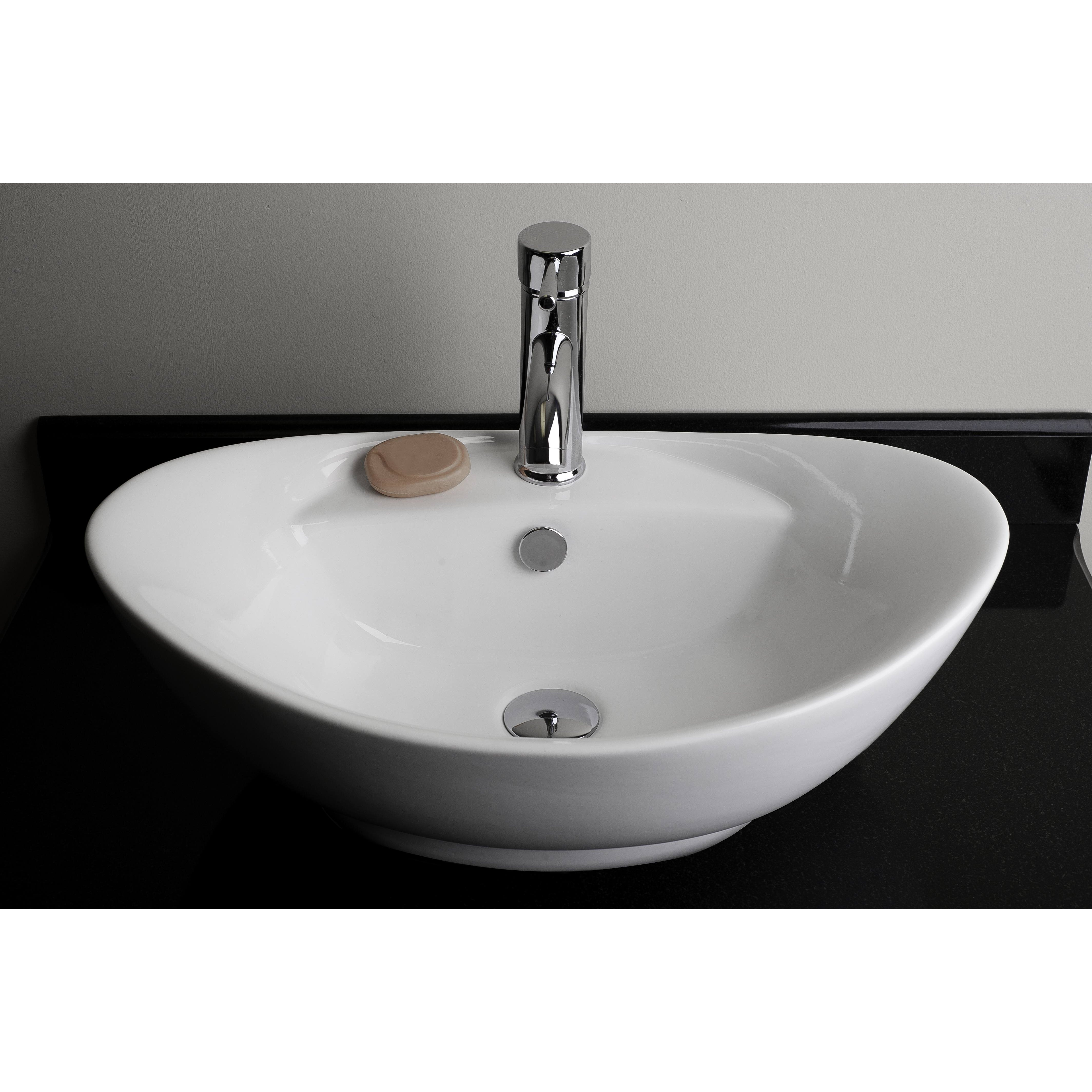 Above Counter Oval Vessel Bathroom Sink by American Imaginations
