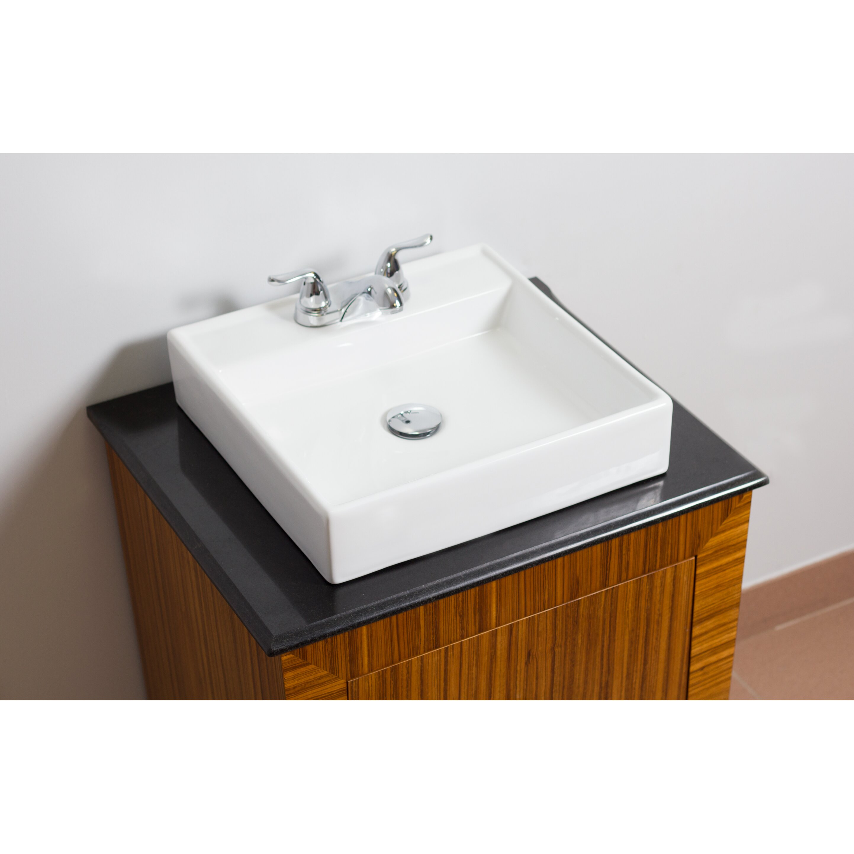 American Imaginations Above Counter Square Vessel Bathroom Sink Reviews Wayfair