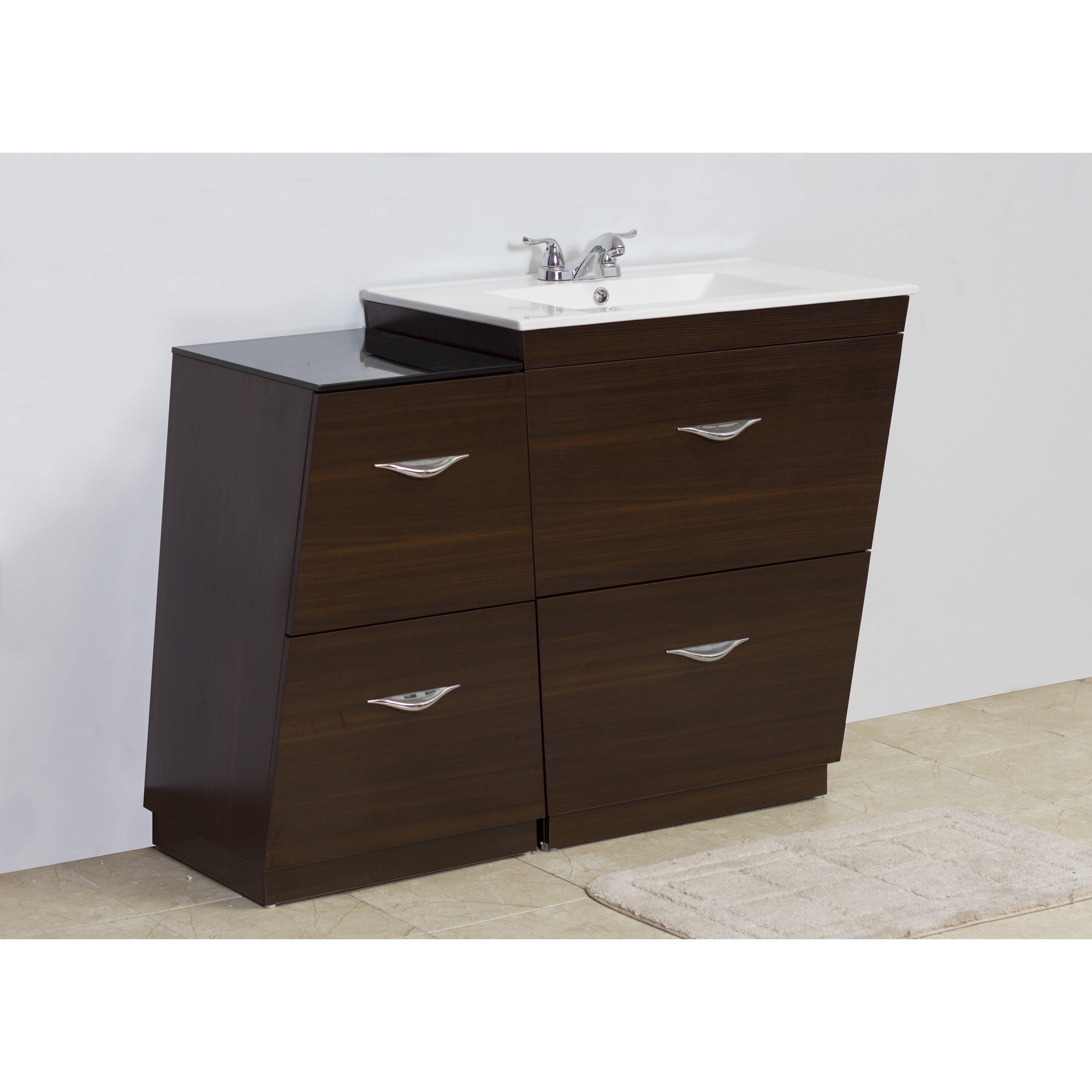 american imaginations 40 5 single modern bathroom vanity set reviews wayfair. Black Bedroom Furniture Sets. Home Design Ideas